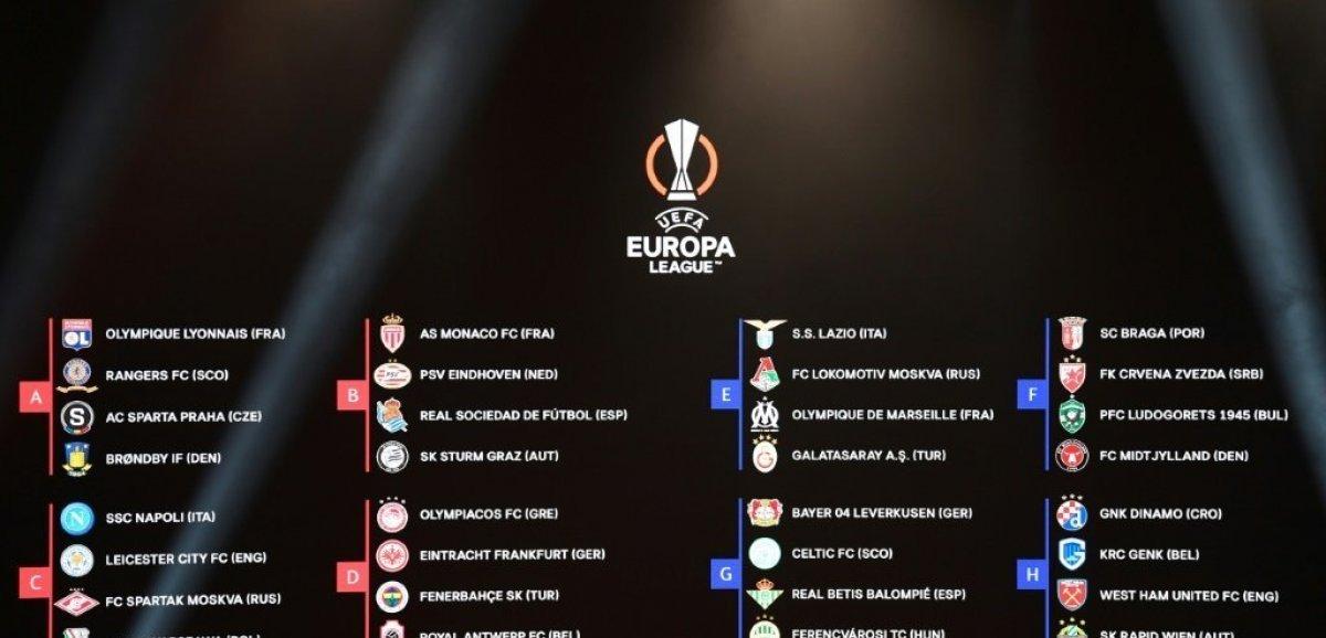 Ligue Europa: du lourd pour Monaco et Marseille, Lyon verni