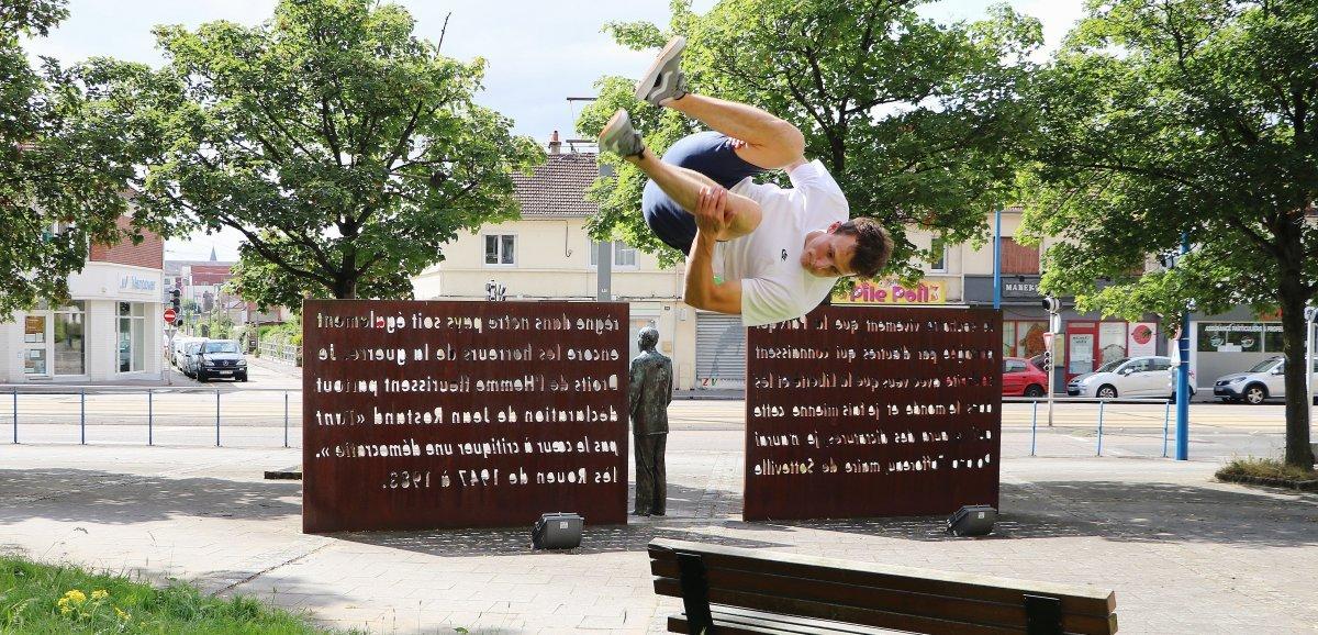 [Portrait] Rouen. Maxime Durot et le parkour,un subtile mélange de rigueur et de liberté