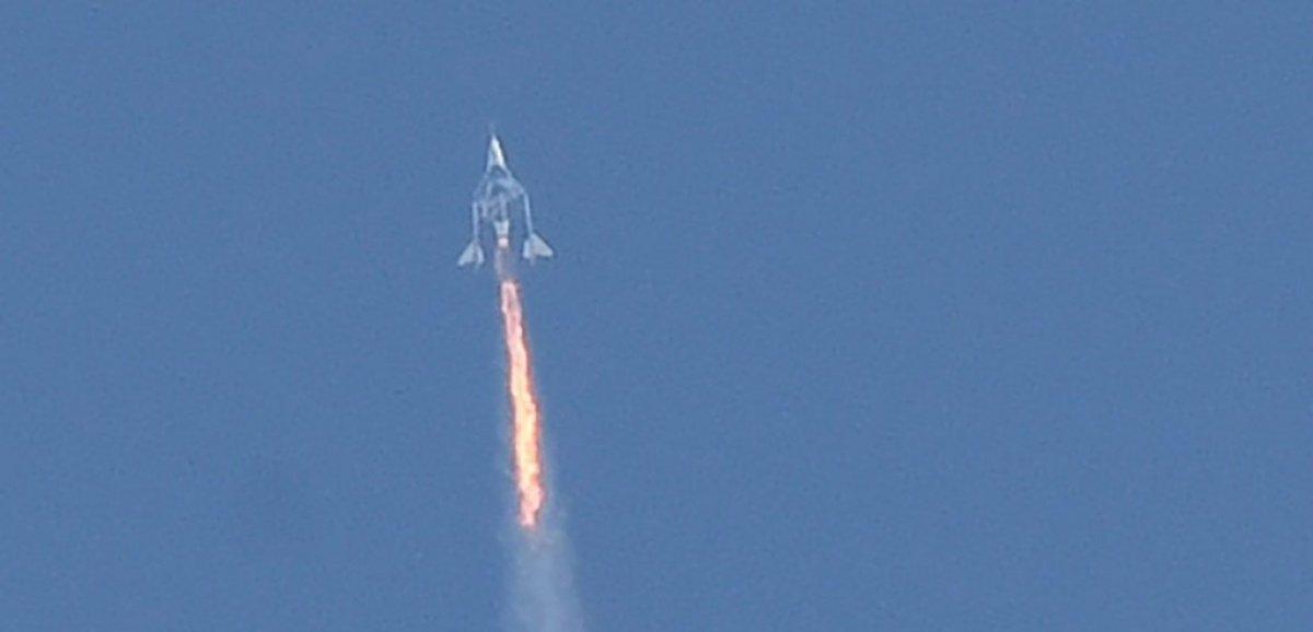 Le vaisseau spatial de Virgin Galactic cloué au sol après un incident de vol en juillet