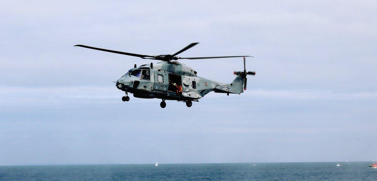 Manche. Un blessé sur un navire de pêche: l'hélicoptère Caïman intervient