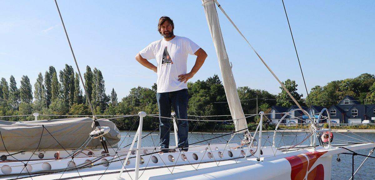 Caen. La renaissance d'un bateau brûlé: Louis Duc a réussi l'exploit