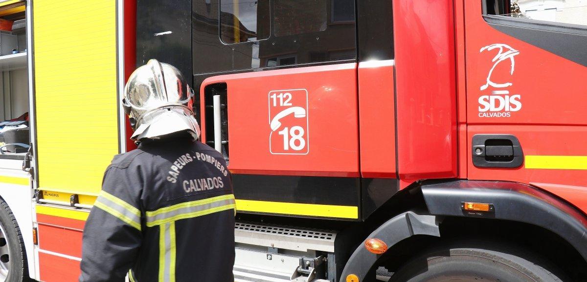 Calvados. Une femme transportée en urgence relative après un incendie