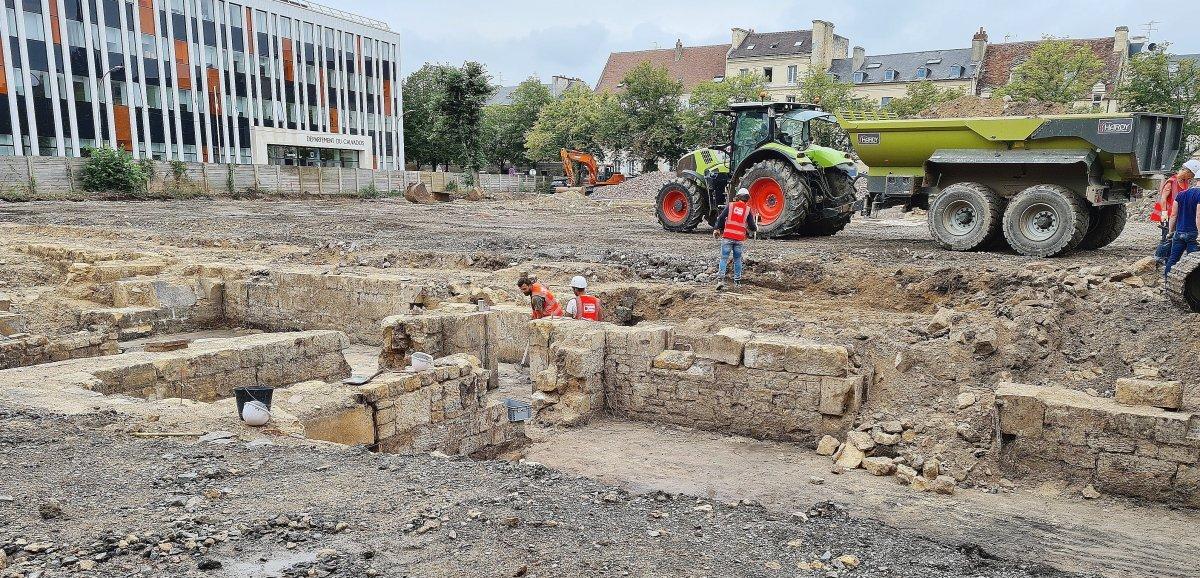 Caen. Fouilles archéologiques: que cache laplace de la République?