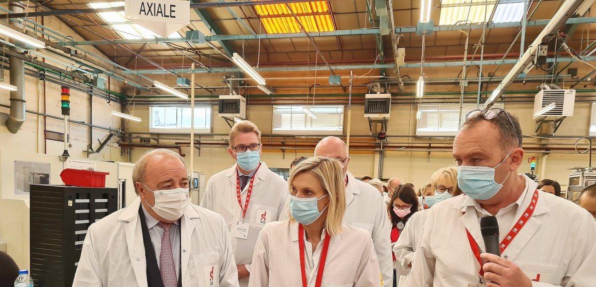 [Vidéo] Saint-Lô. La ministre de l'Industrie en visite pour le 50e anniversaire de Seb