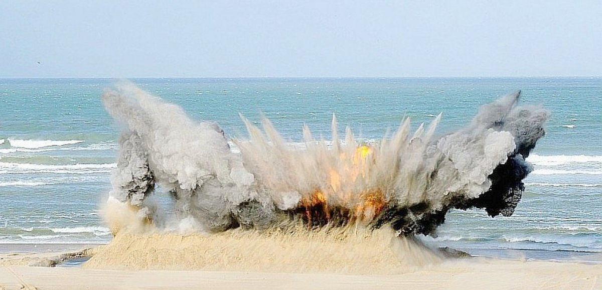 Deuxopérations de déminage sur le littoral de la Manche
