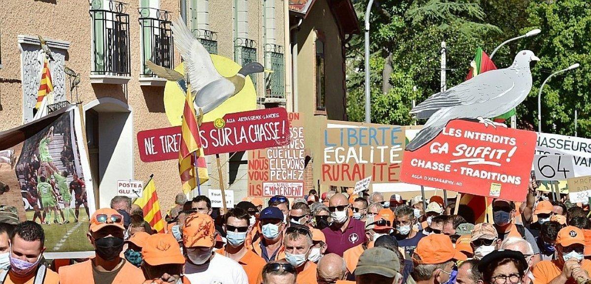 A Mont-de-Marsan, une marée orange pour défendre la chasse et la ruralité