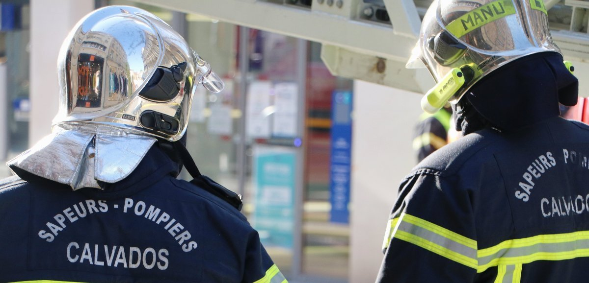 Calvados. Un sapeur-pompier légèrement blessé dans un incendie