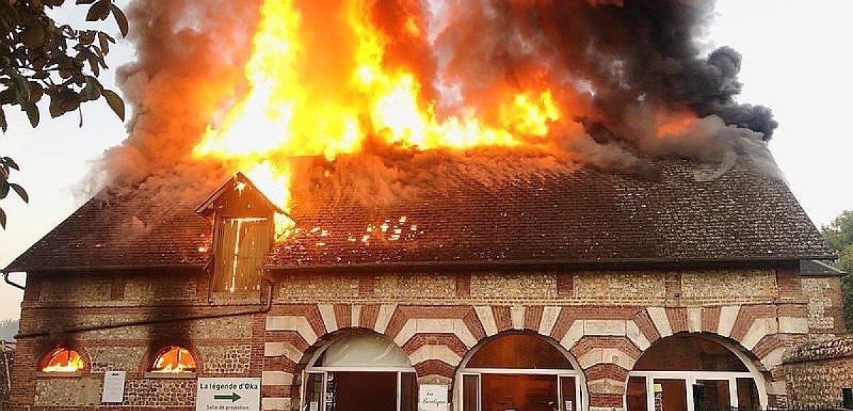 Lanquetot. Un incendietouche La Sauvagette, parc de loisirs pour chiens