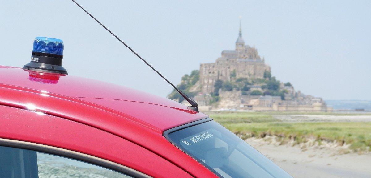 Le Mont-Saint-Michel. Deux personnes prises par la marée montante sont secourues