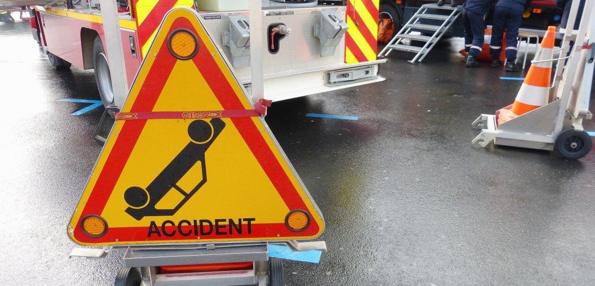 Orne. Un poids lourd de 44 tonnes se couche sur la route: le chauffeur blessé