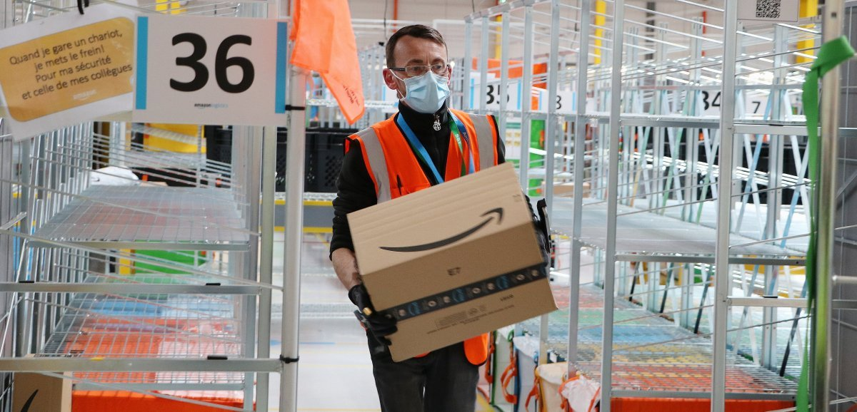 Près de Rouen. Amazon propose une centaine d'emplois à l'approche de Noël
