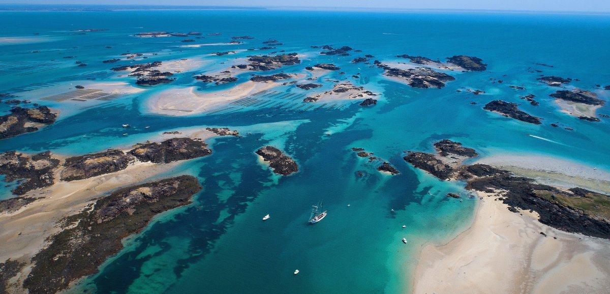 Sortie. Balade gratuite sur les îles de Chausey à l'occasion des grandes marées