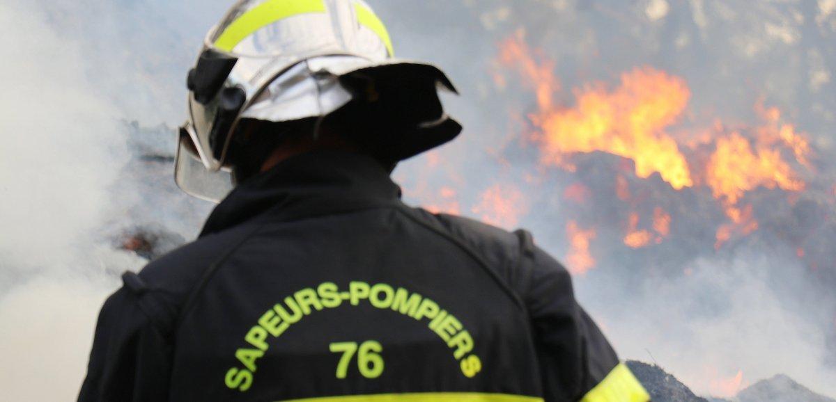 Pays de Caux. Un bâtiment agricole détruit par les flammes