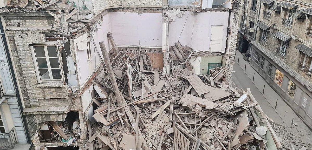 Dieppe. Un immeuble s'effondre en plein centre-ville