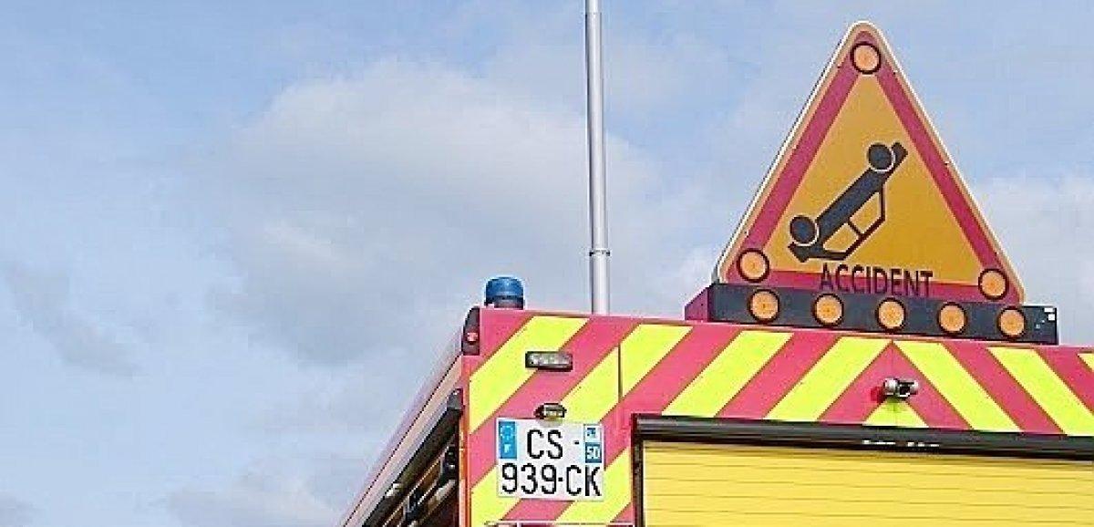 Orval sur Sienne. Accident entre une voiture et un tracteur agricole: un homme blessé