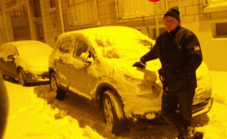 Ce matin, le Calvados sous 6 à 20 centimètres de neige