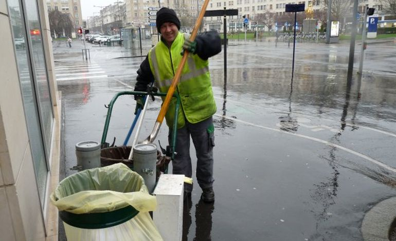 Jérôme, agent de propreté à la ville de Caen :