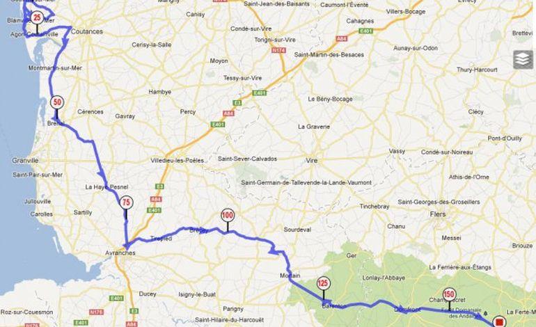 Tour de Normandie, la 5ème étape Gouville sur Mer, Bagnoles de l'Orne