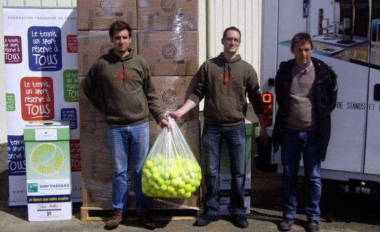80 000 balles de tennis récupérées et recyclées en Normandie