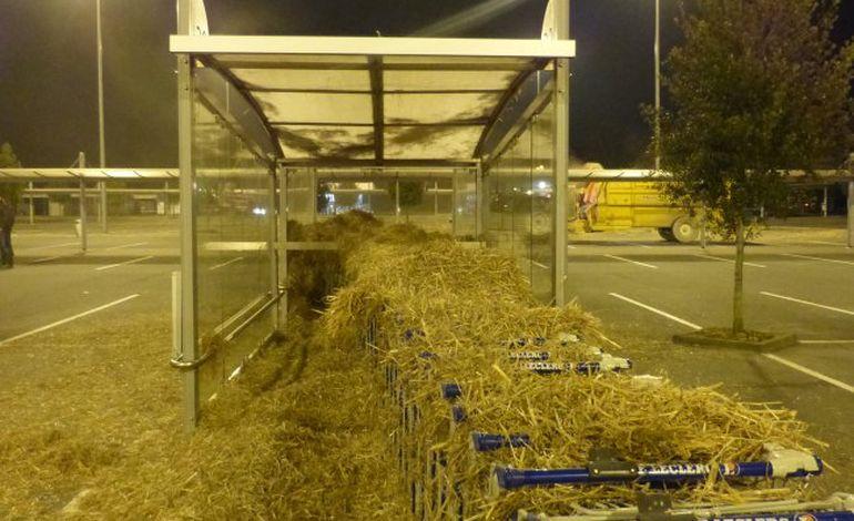 Opération paillage des supermarchés en Basse-Normandie
