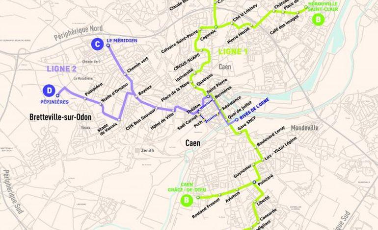 Tramway caennais : la ligne 2 en détails