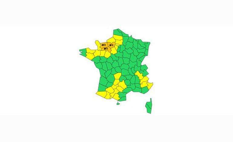 Météo : le Calvados, l'Orne et l'Eure placés en vigilance orange