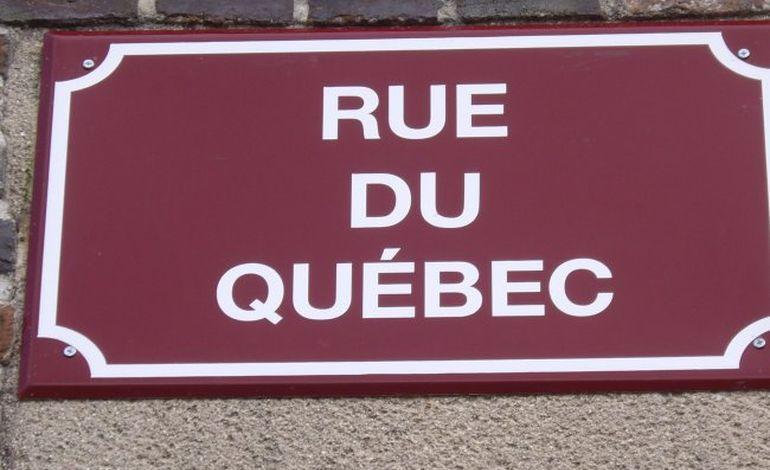 Une rue du Québec à Tourouvre