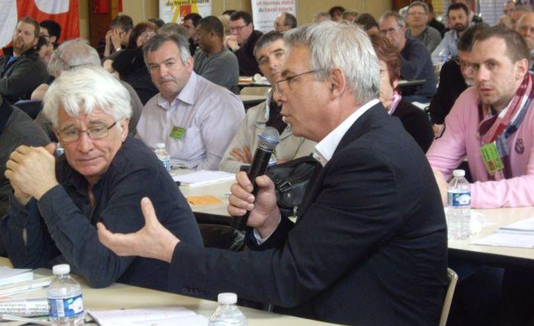 Thierry Lepaon à la conférence régionale de la CGT à Alençon