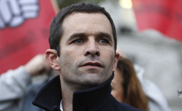 Déplacement ministériel de Benoît Hamon dans la Manche