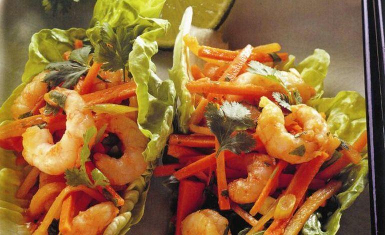 Notre recette du dimanche : des crevettes au miel et au gingembre