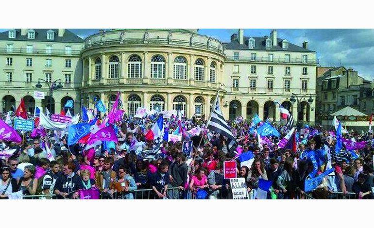 Manif pour tous, les antis mariage gay mobilisés à Rennes