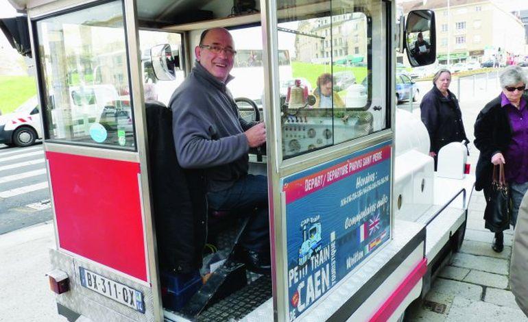 Gérard Morin, le joyeux conducteur du train touristique de Caen