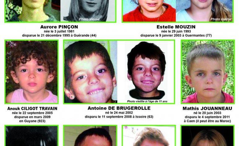 Le visage de Mathis, enlevé par son père, sur l'affiche des enfants disparus