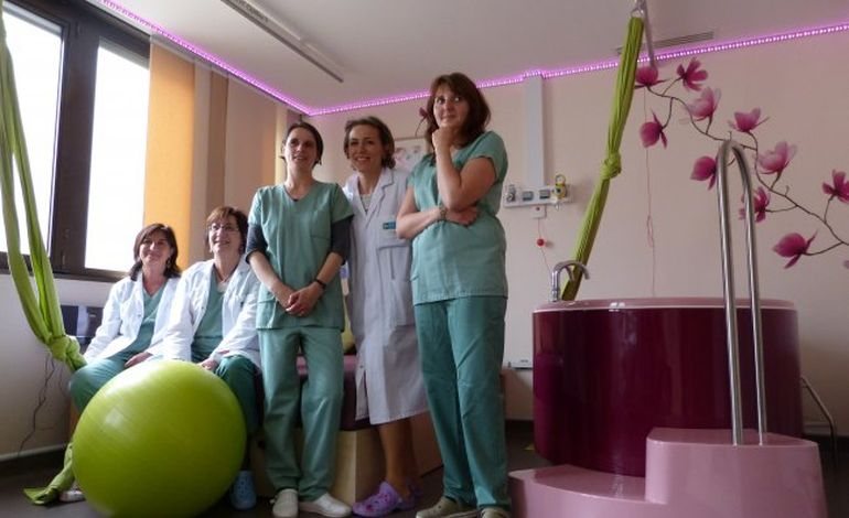 Rouen : une salle nature à la maternité des Feugrais