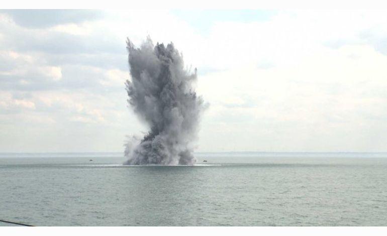 Dieppe : deux mines détruites en Manche
