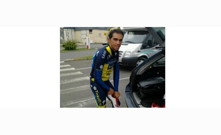 Alberto Contador à Avranches