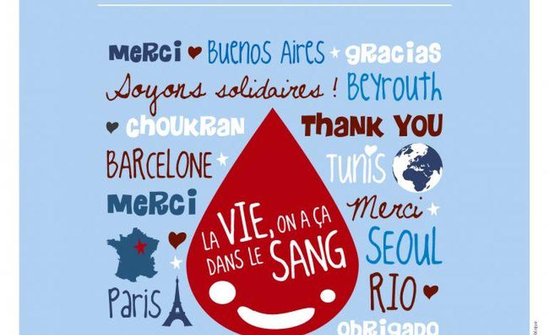Mobilisation pour la journée mondiale des donneurs de sang