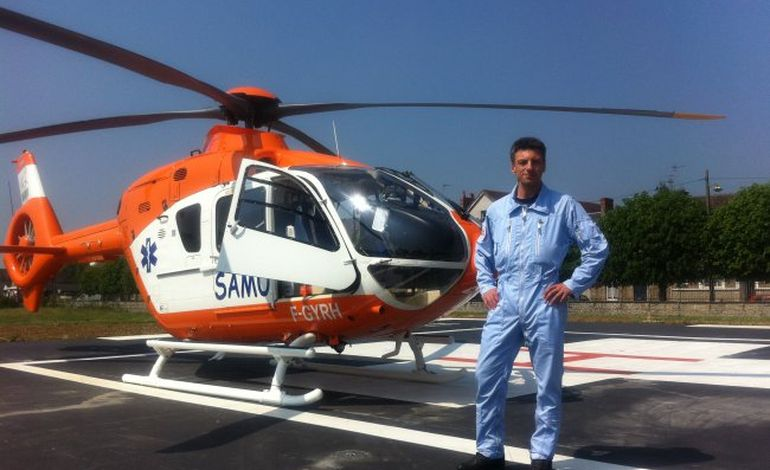 """Pilote d'hélicoptère à Caen : """"Je dois agir dans l'urgence"""""""