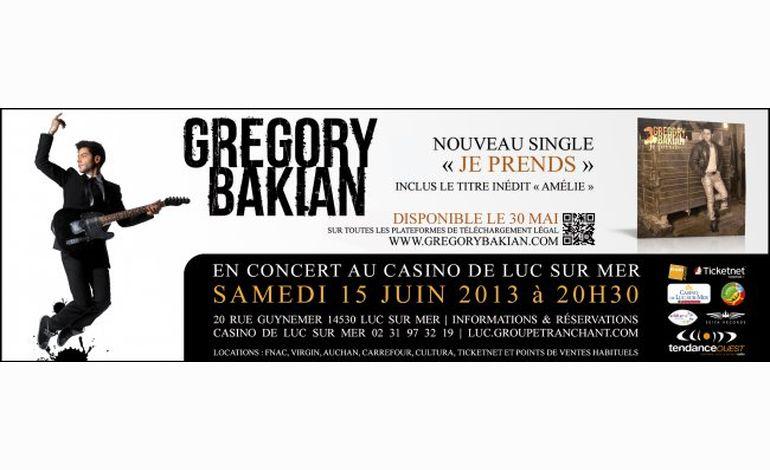 Grégory Bakian en concert au casino de Luc-sur-Mer samedi 15 juin
