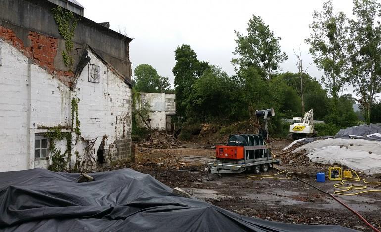 Sécurité maximum sur le désamiantage de l'usine du Pont à Caligny