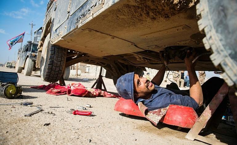 Irak: les mécaniciens indispensables dans le combat contre l'EI