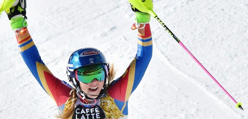 Ski: l'Américaine Mikaela Shiffrin sacrée en Slalom pour la 3e fois aux Mondiaux