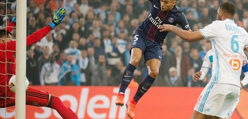 Ligue 1: le Paris SG mène 2 à 0 à la pause contre Marseille
