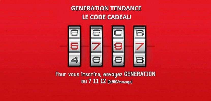 Génération Tendance : Tentez de trouver le 13ème CODE CADEAU !