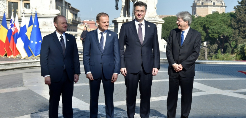 """UE: Tusk exhorte les 27 à """"prouver"""" qu'ils sont les """"dirigeants de l'Europe"""""""