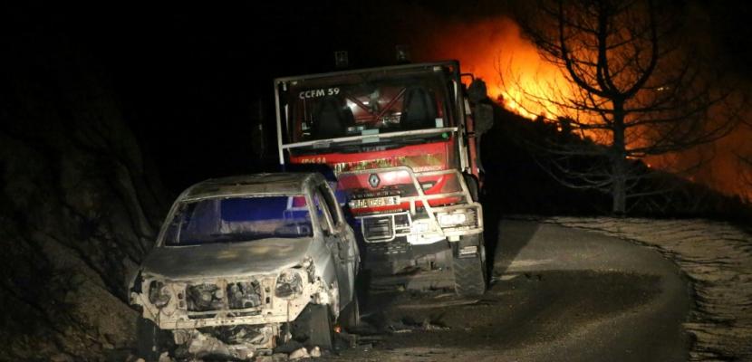 Corse: cinq pompiers blessés dans un feu de maquis de plusieurs centaines d'hectares