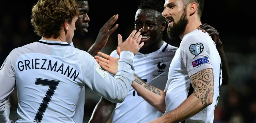 Mondial-2018: la France mène 2-1 à la mi-temps au Luxembourg