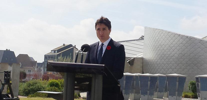 Retour sur la visite de Justin Trudeau au centre Juno Beach