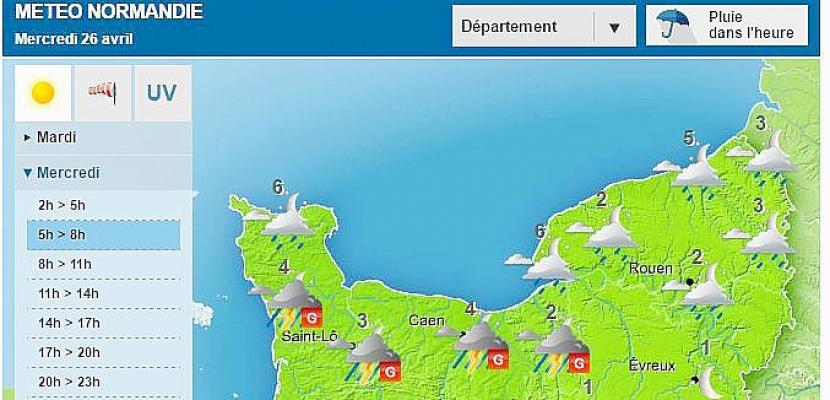 Météo :la Normandie en vigilance jaune aux orages