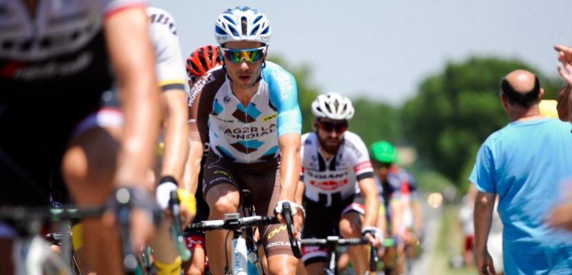 Cyclisme: le coureur de Normandie Mickaël Chérel s'est montré en Suisse